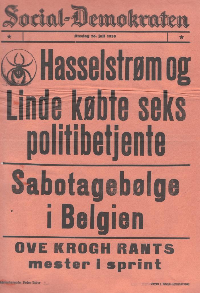 Social-Demokraten 26. juli 1950